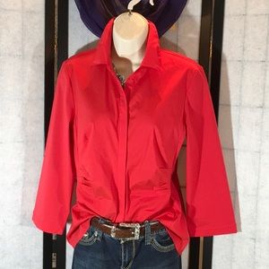 Lafayette 148 red blouse